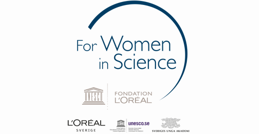 For Women in Science Sverige logotype