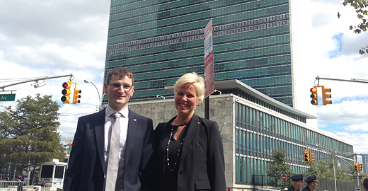 Martin Högbom and Anna Sjöström Douagi at UN, New York